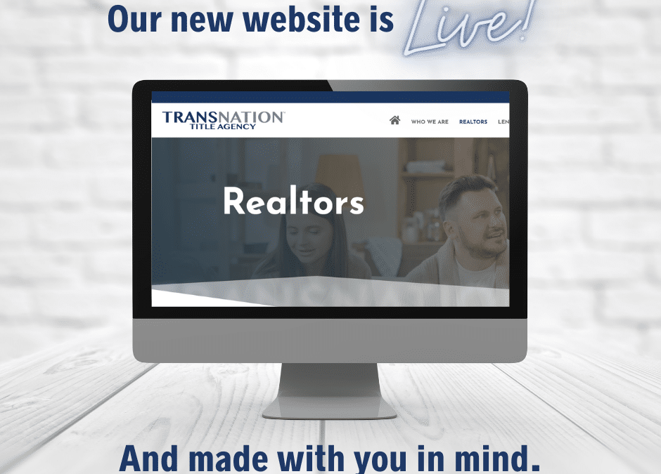 Our new website is now LIVE and designed with you mind